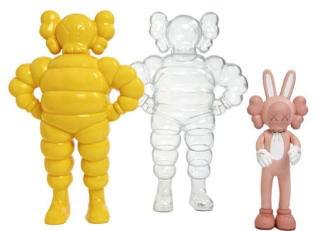 KAWS-Chum (Yellow, Transparent), Accomplice (Pink)-2002