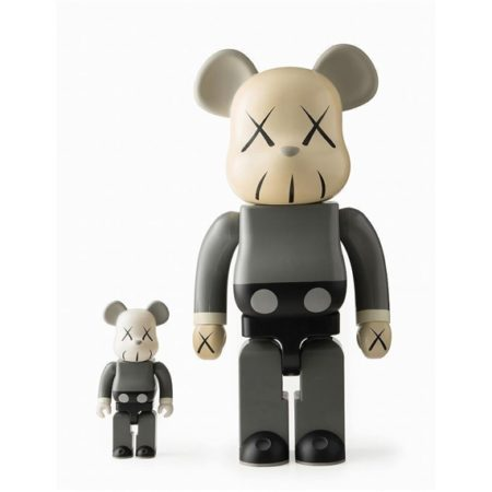 KAWS-Be@rbrick 1000%, 400% (Grey)-2002