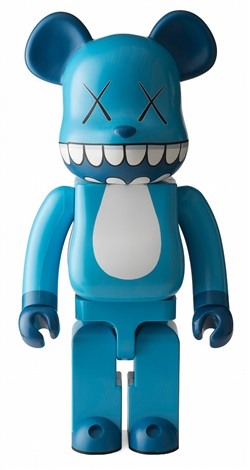KAWS-Be@rbrick Chompers 1000% (Blue)-2003