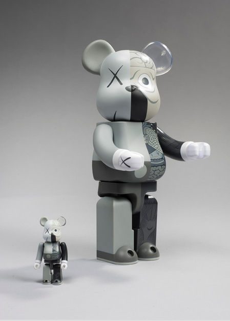 Dissected Be@rbrick 400%, 100% (Grey)-2010