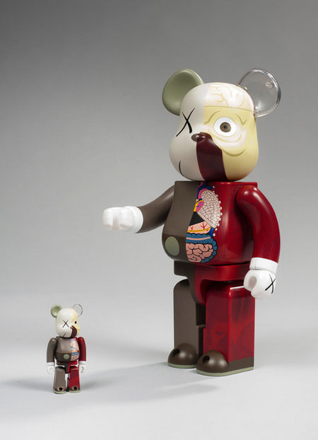 KAWS-Dissected Be@rbrick 400%, 100% (Red)-2008