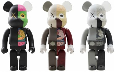 KAWS-Dissected, (ORIGINALFAKE) (Be@rbrick) 1000% (Black, Brown, Grey)-2010