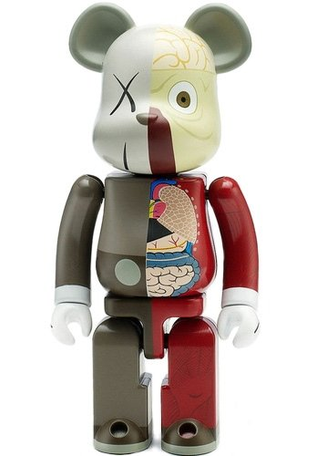 KAWS-Dissected Be@rbrick 200% (Brown)-2009