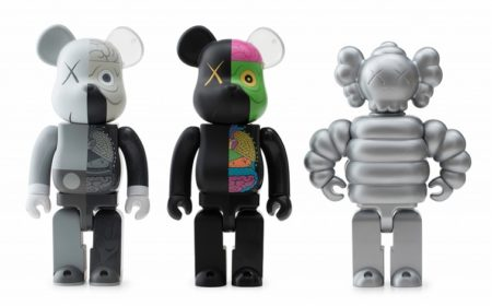 KAWS-Dissected Be@rbrick 400% (Grey, Black), Kubrick KAWS Mad Hectic Supreme Quality-2010