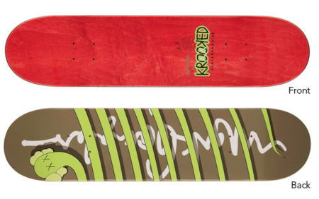KAWS x Krooked (Mark Gonzales) 'Bendy' Skateboard Deck-