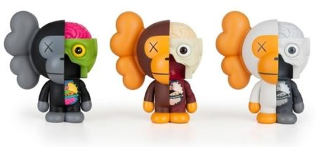 KAWS-Miro (Black, Brown, White)-2011