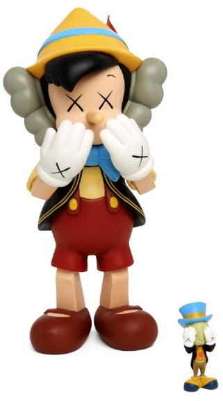 KAWS-Pinocchio and Jimini Cricket-
