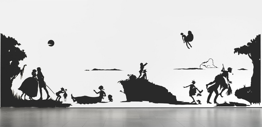 Kara Walker - Gone, An Historical Romance of a Civil War As It Occurred Between the Dusky Thighs of One Young Negress and Her Heart. 1994 - Image via mediumcom american york home cut