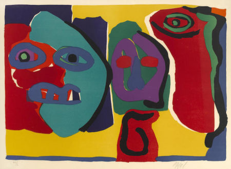 Karel Appel-Three Figures-1974