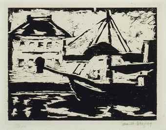 Karl Schmidt-Rottluff-Vareler Hafen-1909