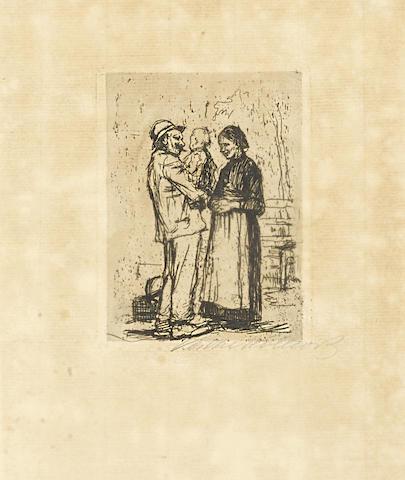 Kathe Kollwitz-Begrussung-1892
