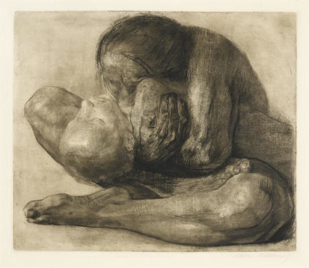 Kathe Kollwitz-Frau mit Totem Kind-1903