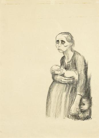 Kathe Kollwitz-Plakat Gegen den Paragraphen 218-1924