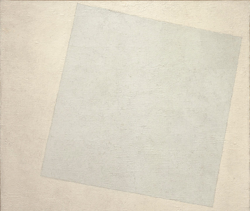 Kazimir Malevich - White on White, 1918 - new composition