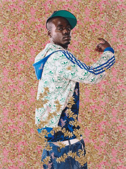 Kehinde Wiley-After John Raphael Smith's A Bacchante after Sir Joshua Reynolds-2009