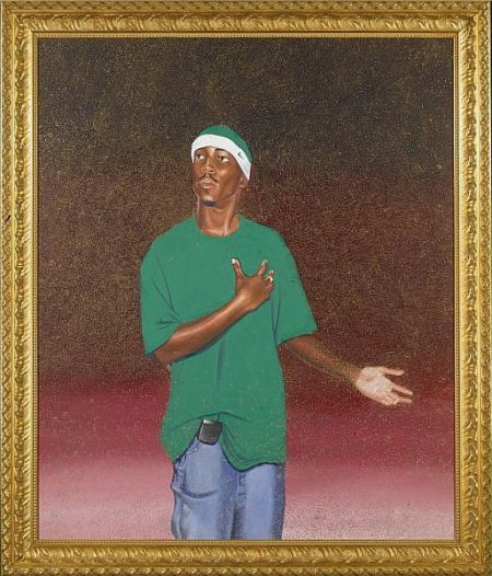 Kehinde Wiley-Female Prophet Anne, Samuel's Mother-2003