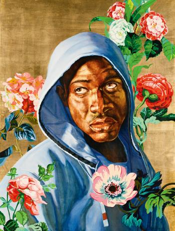 Kehinde Wiley-Head of a Young Girl Veiled and Crowned with Flowers (From the Icon Series)-2008