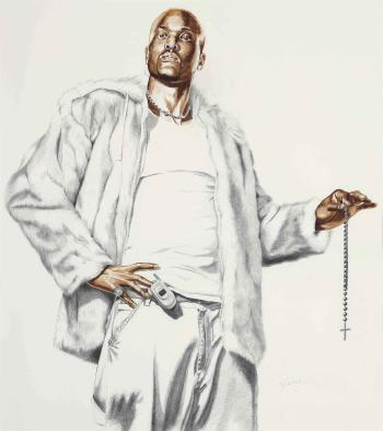 Kehinde Wiley-Madonna Of The Rosary (Study)-2005