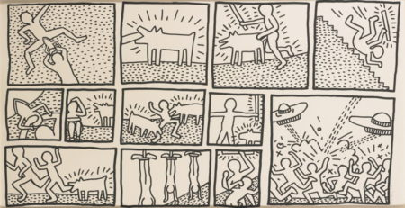 Keith Haring-Blueprint Drawing #1 (L. Pg. 175)-1990