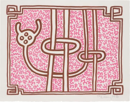 Keith Haring-Chocolate Buddha 3-1989