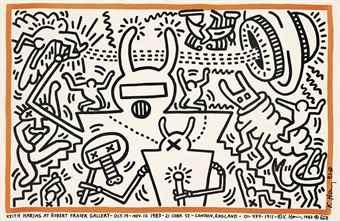 Keith Haring-Keith Haring at Robert Fraser Gallery 19th Oct-Nov 12 1981-1983