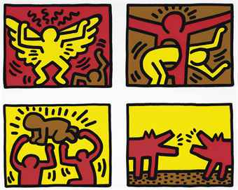 Keith Haring-Pop Shop Quad IV-1989