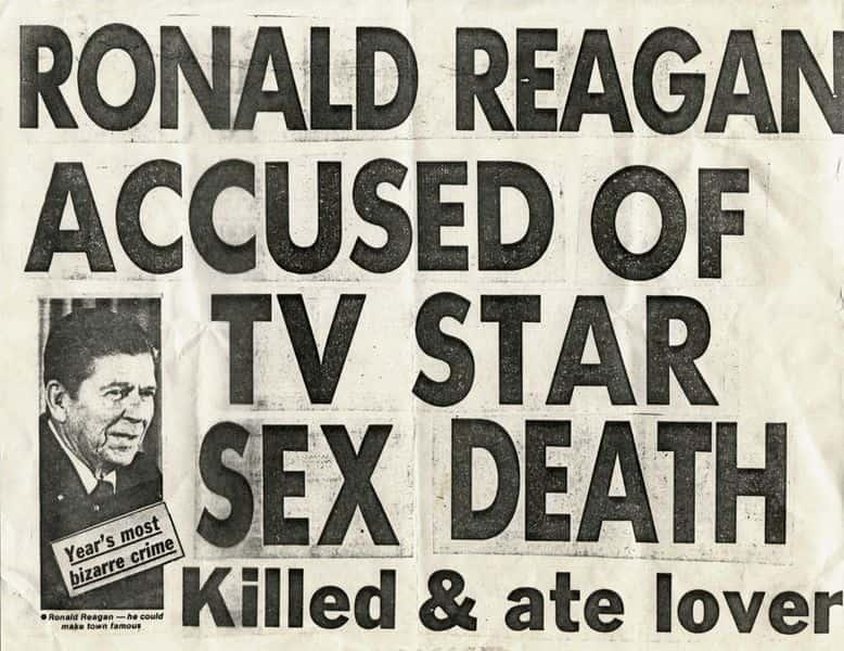 Keith Haring - Ronald Reagan Accused of TV Star Sex Death, 1980