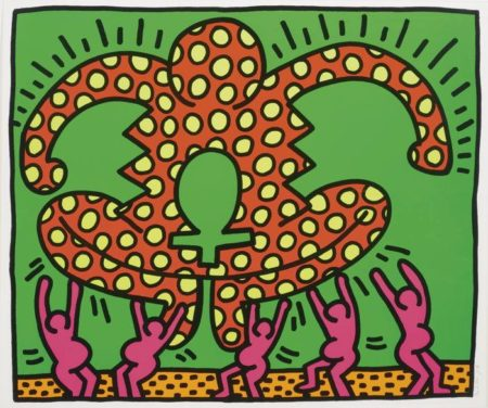 Keith Haring-Untitled, Fertility (L. Pg. 33)-1983