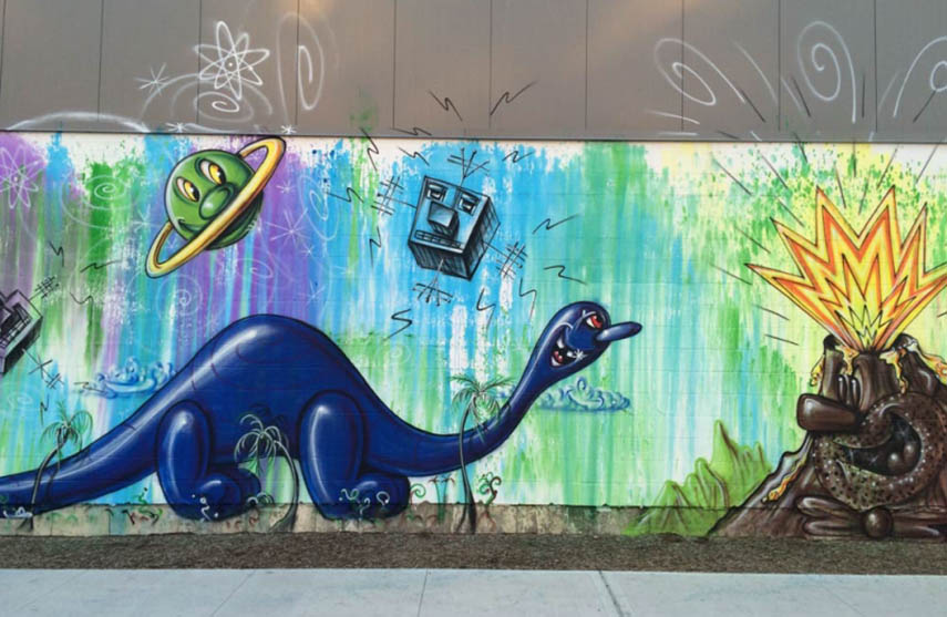 Kenny Scharf - Bronx Mural Project, 2016