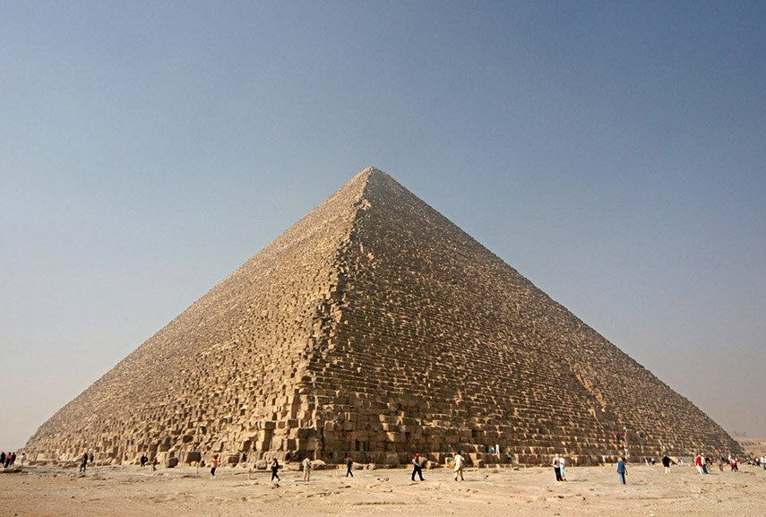 Kheops Pyramid in Giza, Egypt - an example of great world architecture