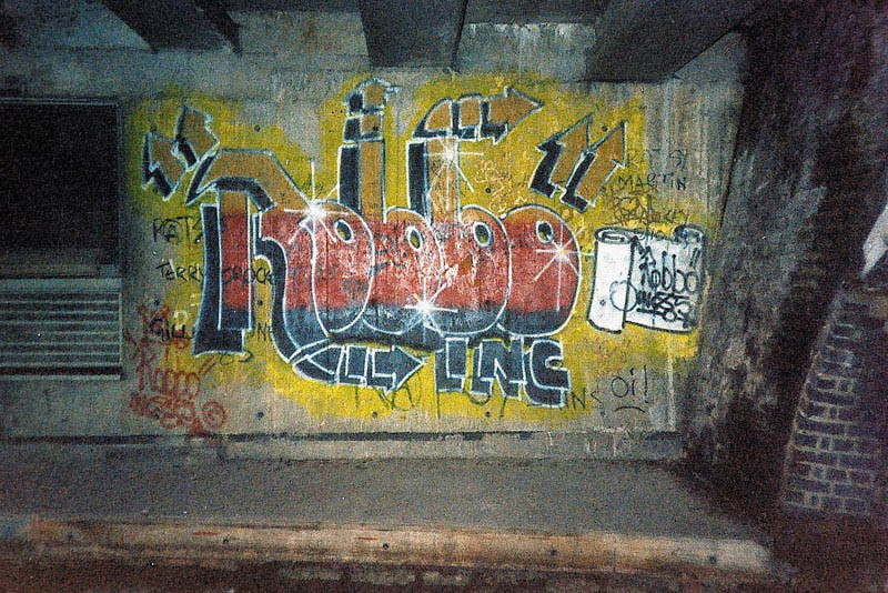 King Robbo - Mural in well known tunnel in Camden, London, 1985