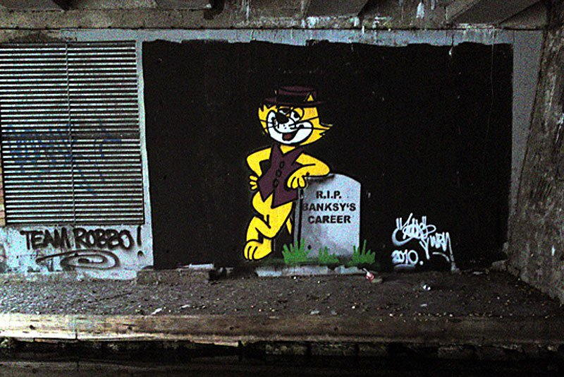 King Robbo - R.I.P. Banksy's Career, July 2010, Camden, London