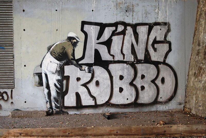King Robbo - Repainted Mural, 2010, Camden, London