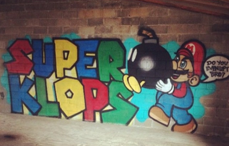 graffiti bombing in new york was posted on instagram with spray characters on video