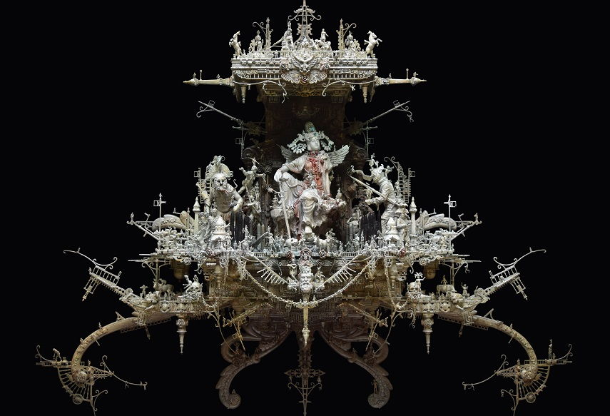 Kris Kuksi -The Tengu pieces, piece detail.
