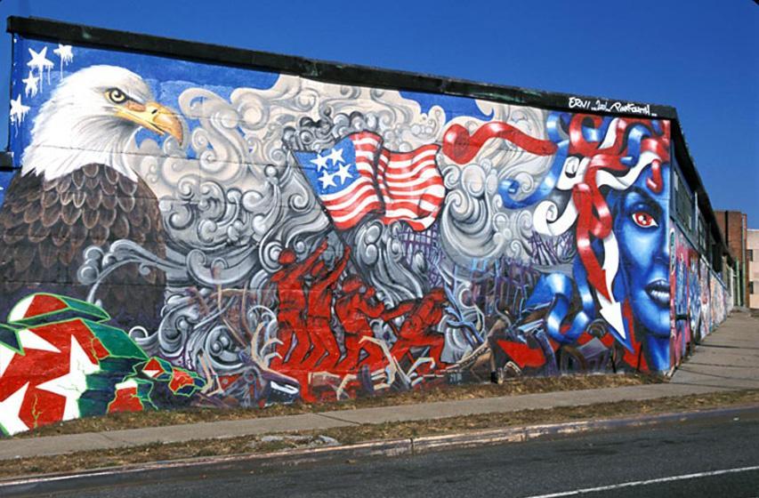 museum mural museum school paintings world brooklyn queens home Lady 9-11 Tribute, 2001