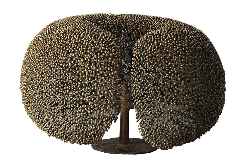 Large 'Bush' sculpture with integrated welded fountain form interior, ca 1970