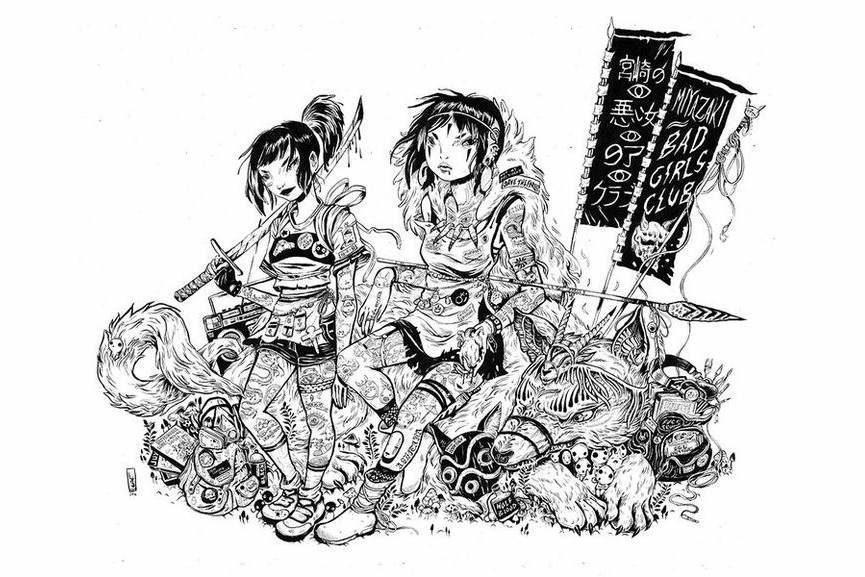 miyazaki directed anime films totoro mononoke ponyo and spirited away