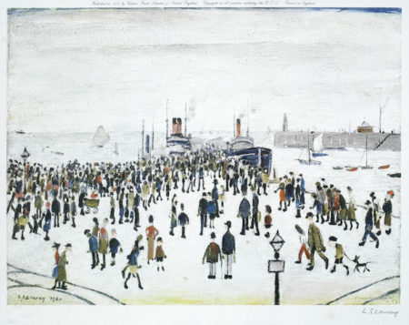 Laurence Stephen Lowry-Ferry Boats-1972