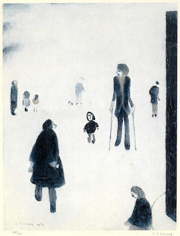 Laurence Stephen Lowry-Figures in the Park-