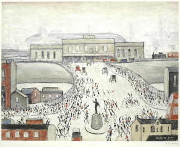 Laurence Stephen Lowry-Station Approach