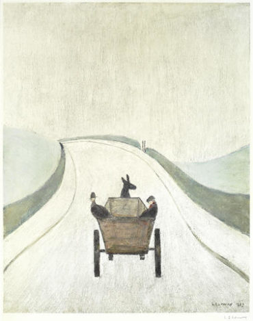 Laurence Stephen Lowry-The Cart