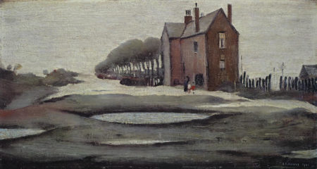 Laurence Stephen Lowry-The Lonely House-