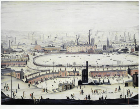 Laurence Stephen Lowry-The Pond-
