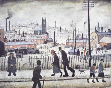 Laurence Stephen Lowry-View of a Town