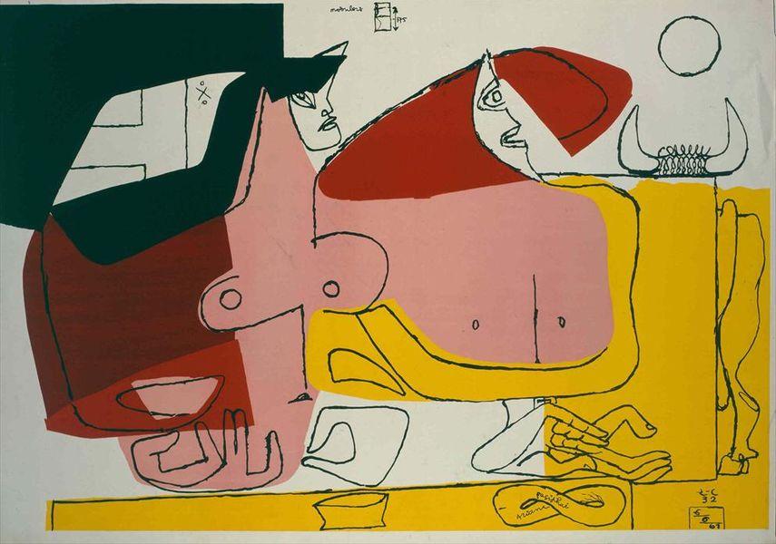 Le Corbusier - Ariane et Pasiphaé, 1961 - image via fondationlecorbusier