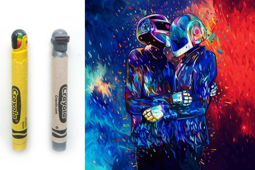 Daft punk inspired art exhibition 3rd annual show at for Daft punk mural