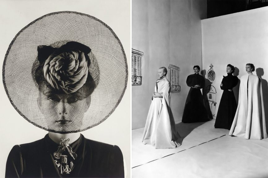 Left Cecil Beaton for French Vogue, via showstudio com Right Cecil Beaton for Vogue 1936, via pleasurephotoroom.wordpress com