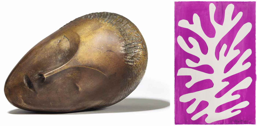 Left Constantin Brancusi Right Henri Matisse