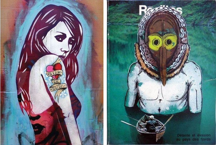world creatives who create and paint stencil graffiti artwork are banksy and c215